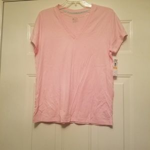 Hue vneck new pink sleep shirt small shortsleeve